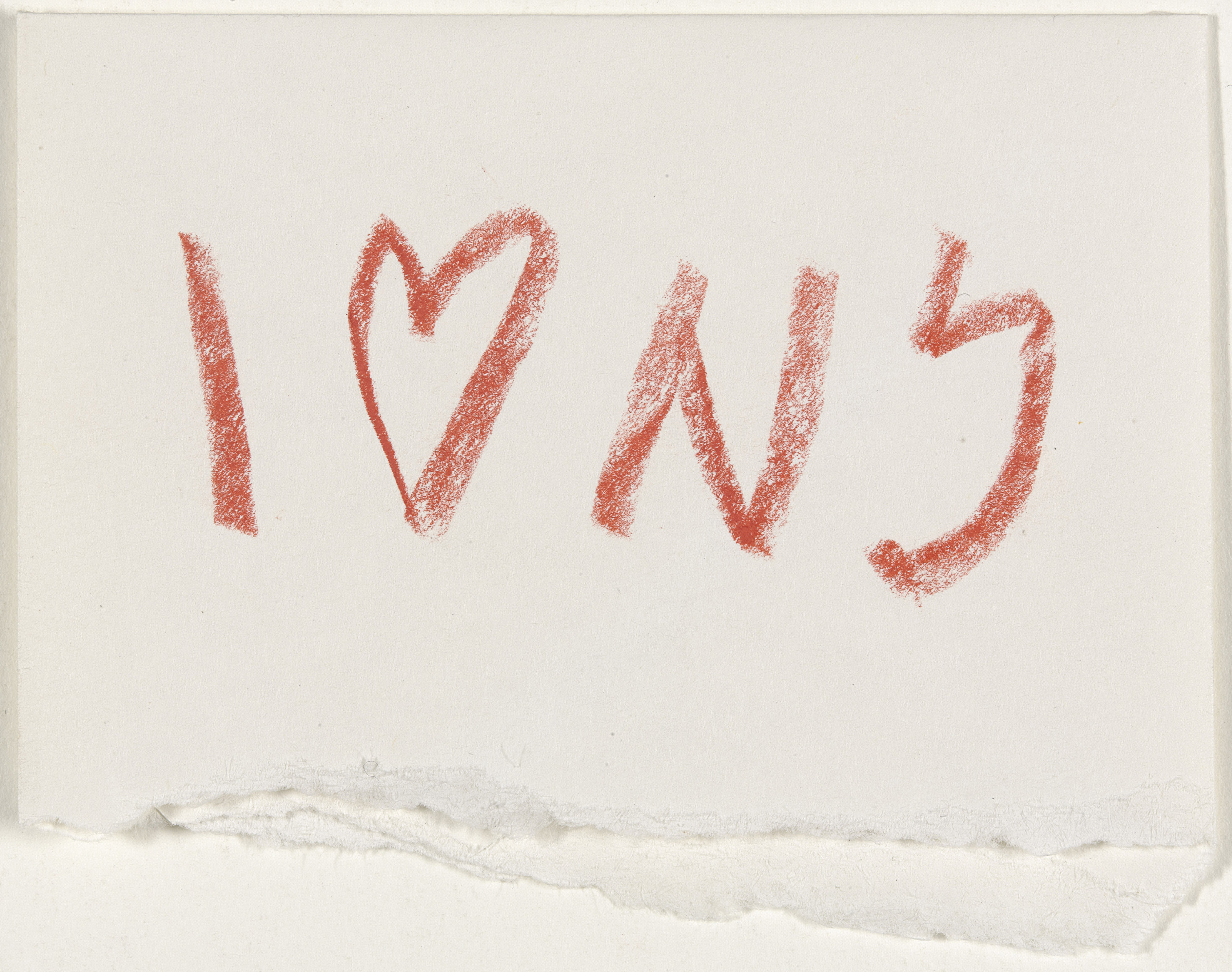Glaser, Milton (b. 1929): I (Heart) NY concept sketch, 1976. New York, Museum of Modern Art (MoMA)