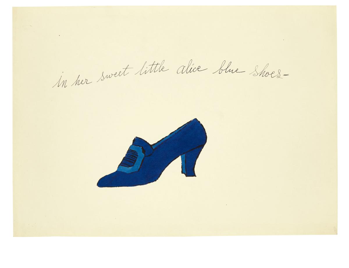 In her sweet little alice blue shoes
