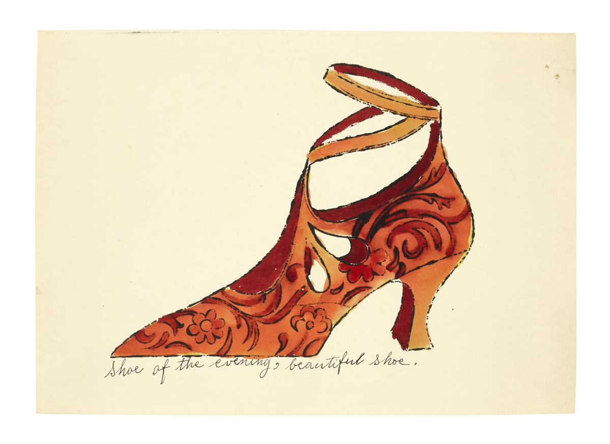Shoe of the evening, beautiful shoe