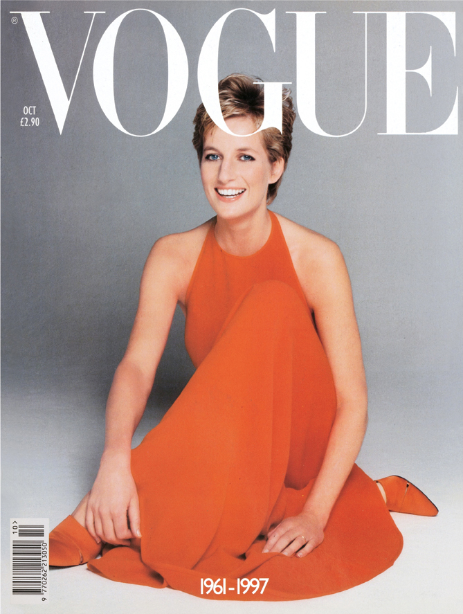 Lady diana on the cover of british vogue