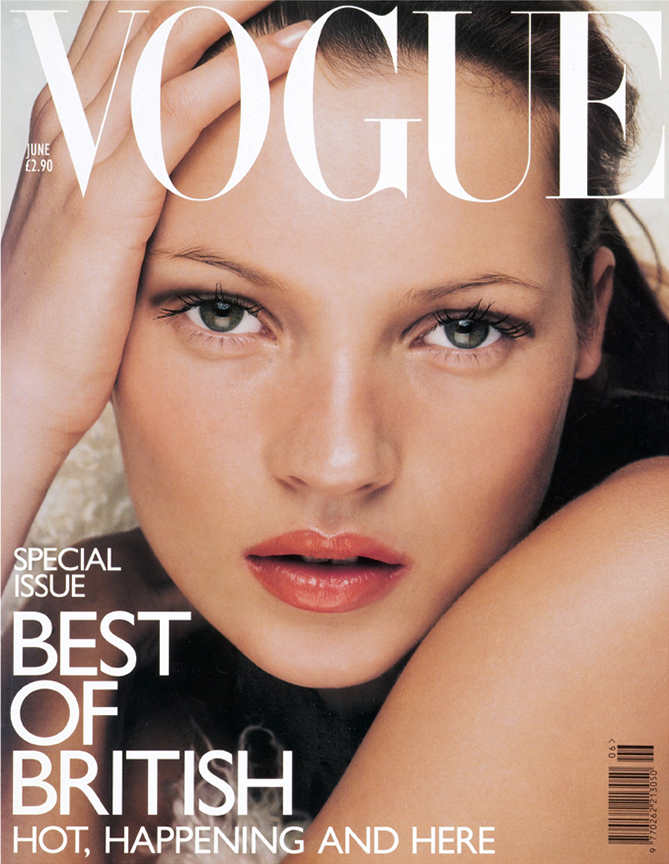 Kate moss on the cover of british vogue