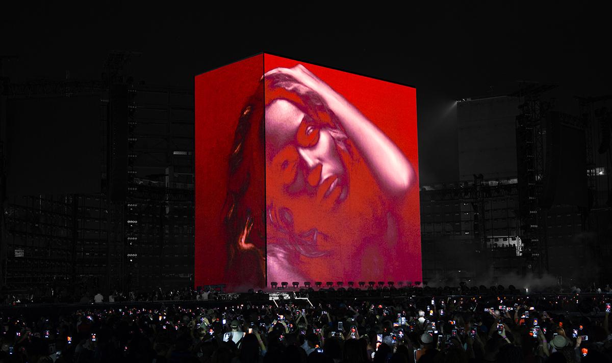 Set for a Beyonce concert, designed by Devlin