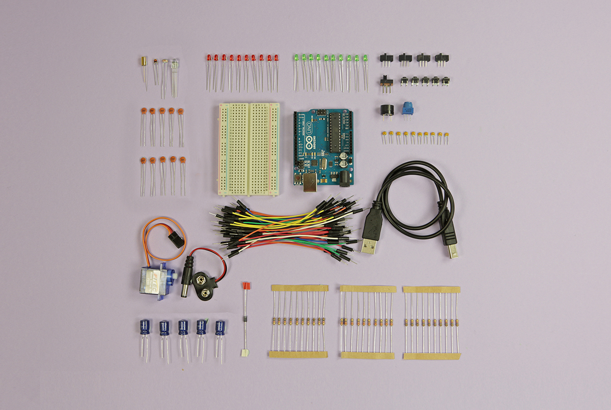 Components of the Start Arduino Kit