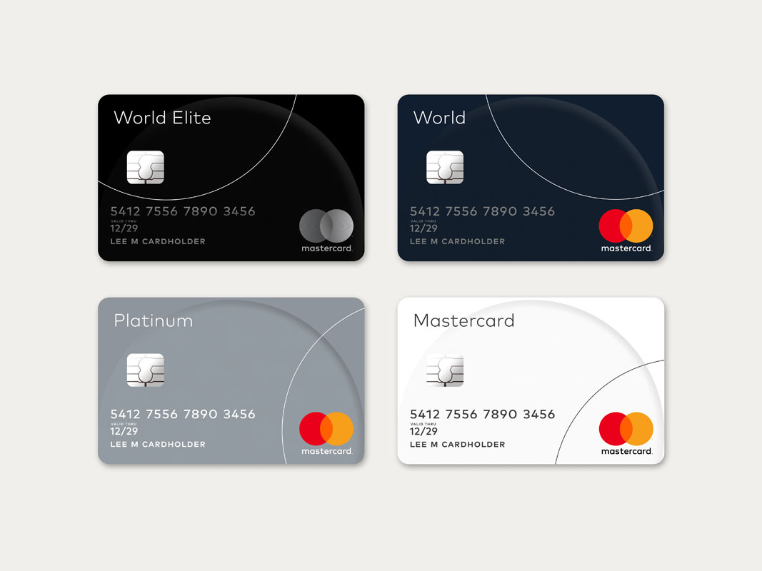 new mastercard logo on redesigned credit cards