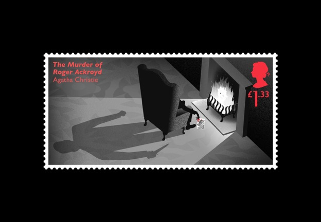 Agatha Christie stamps by Royal Mail