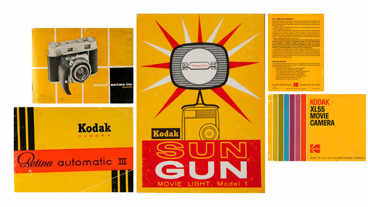 Kodak's logos through the ages, and vintage marketing, via Work-Order (work-order.co)