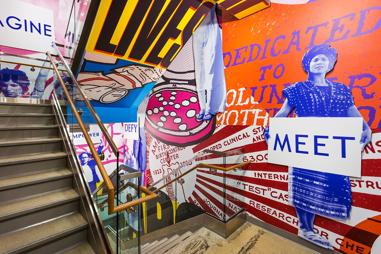 Paula Scher's mural for Planned Parenthood's New York headquarters