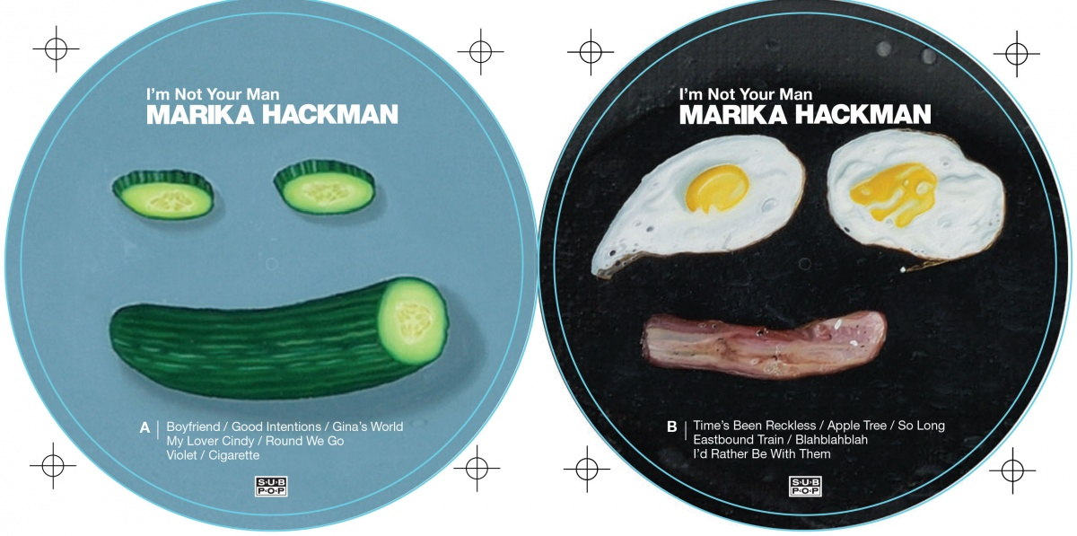 LP labels for Marika Hackman's I'm Not Your Man