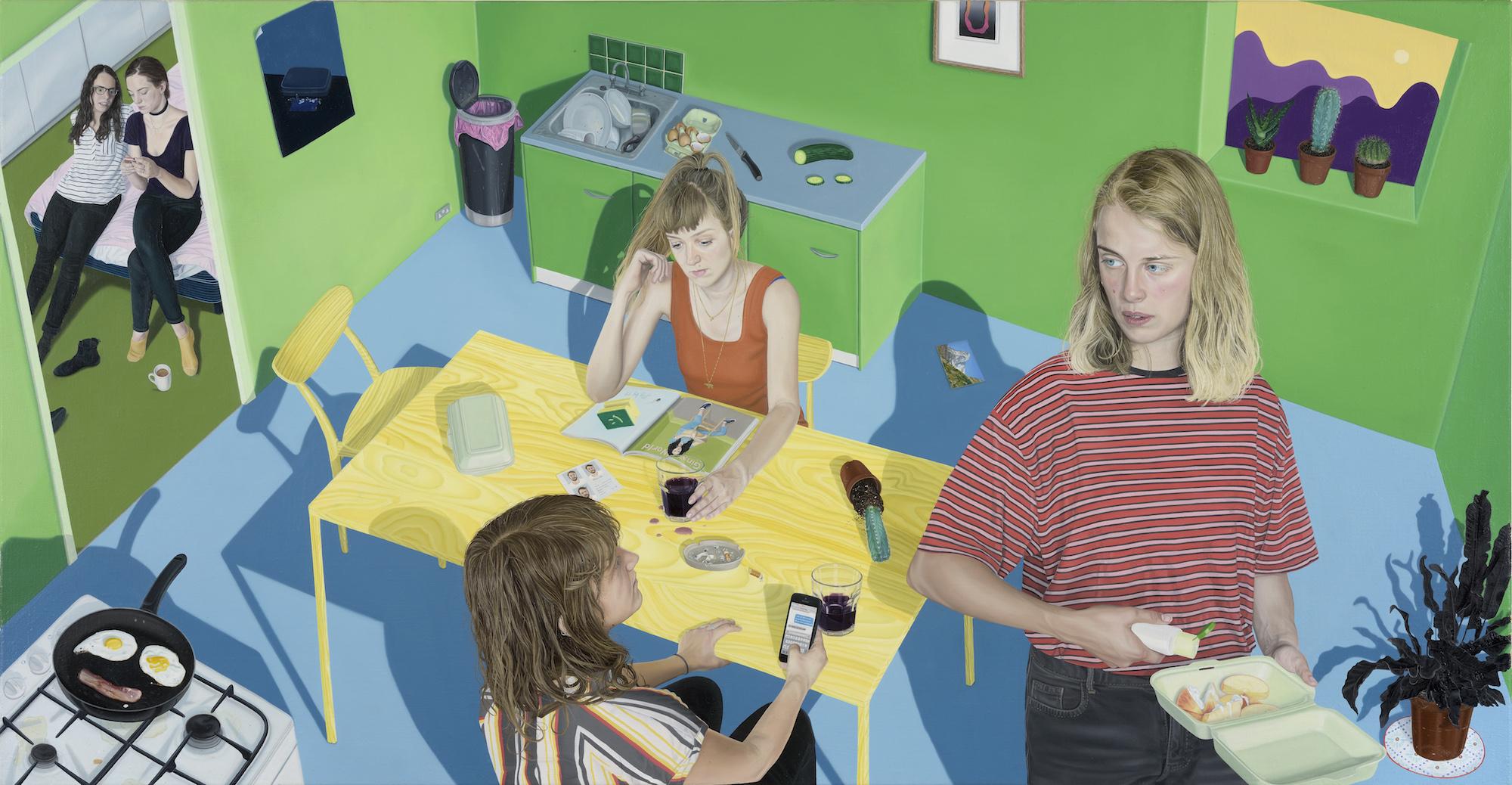 Tristan Pigott's oil painting for Marika Hackman's album, I'm Not Your Man