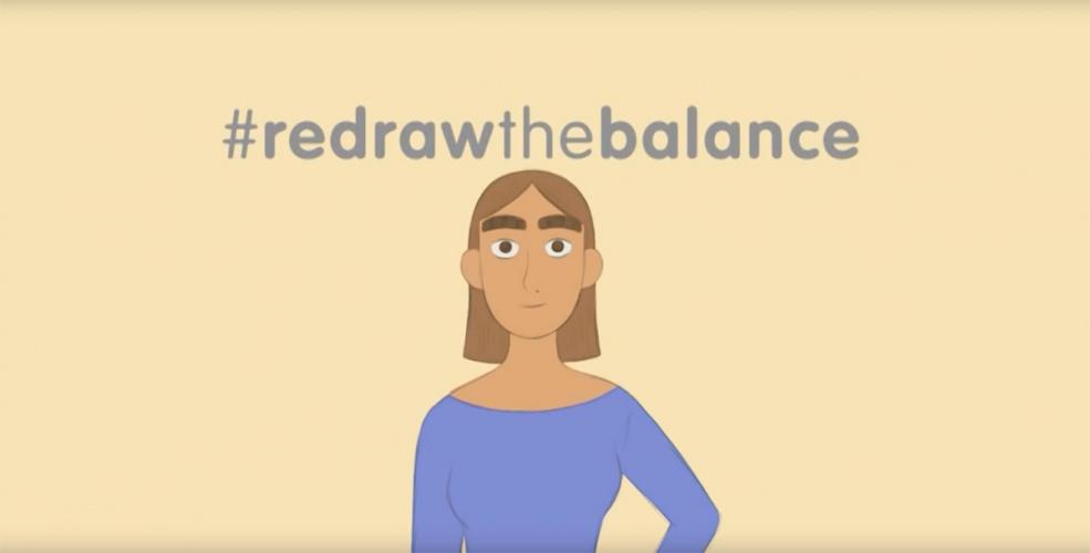 Inspiring Girls Redraw The Balance ad