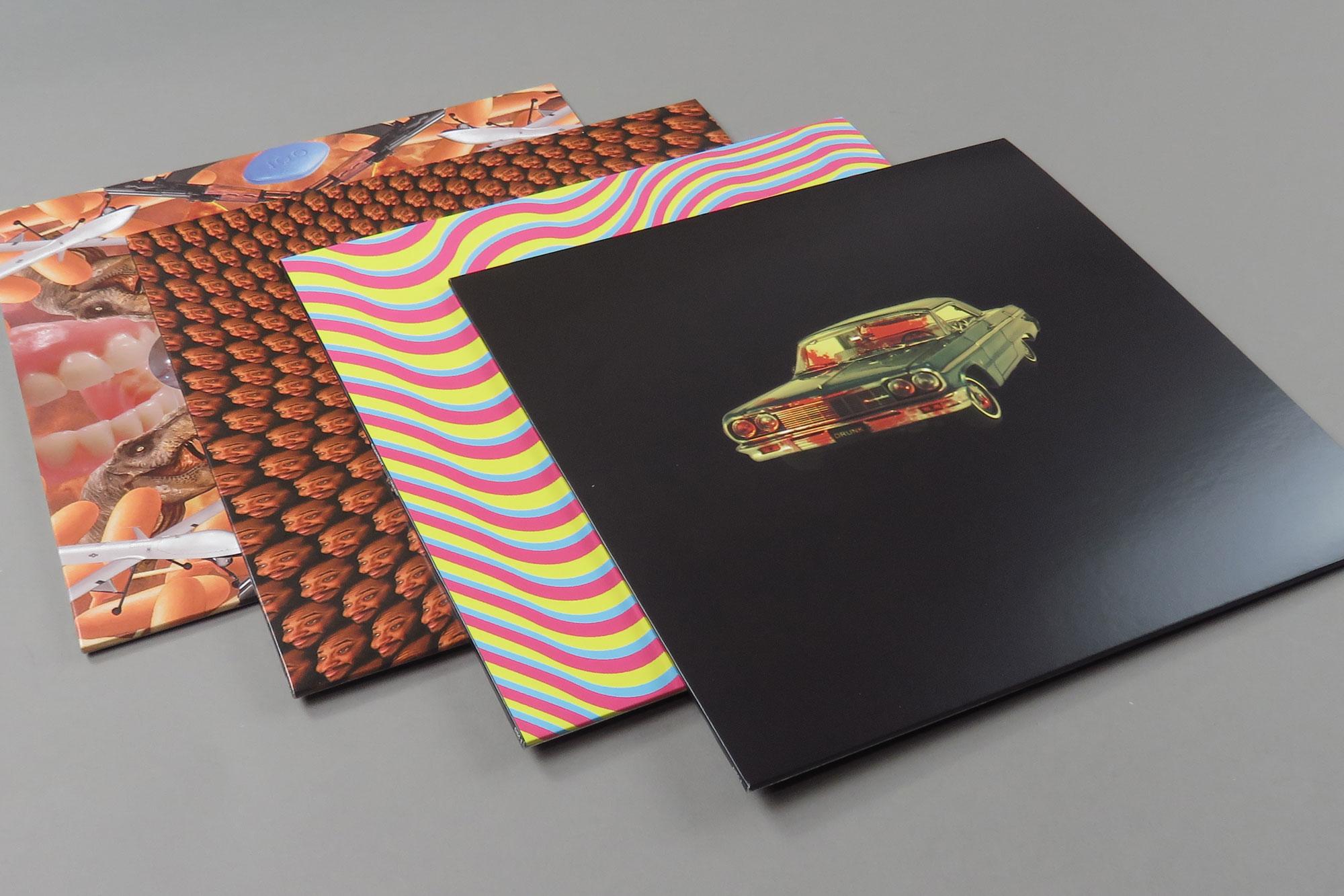 Inner sleeves for the deluxe box set designed by Zack Fox
