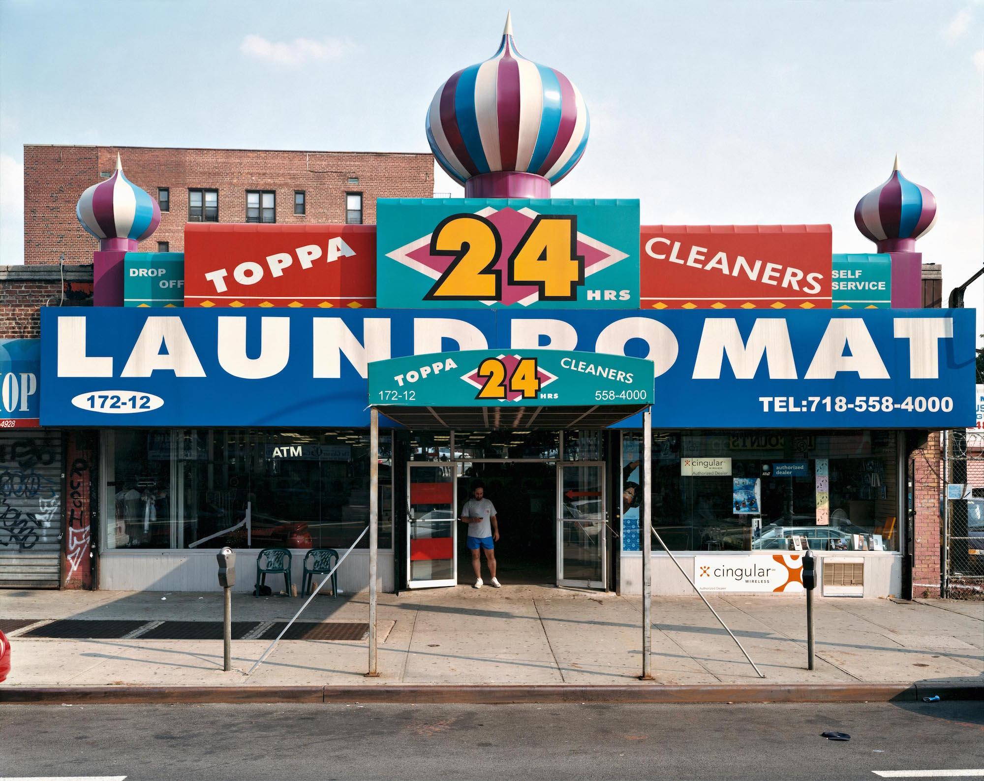 Toppa Cleaners – 172‐12 Hillside Avenue, Hollis, Queens, July 2003, by Joel Sternfeld