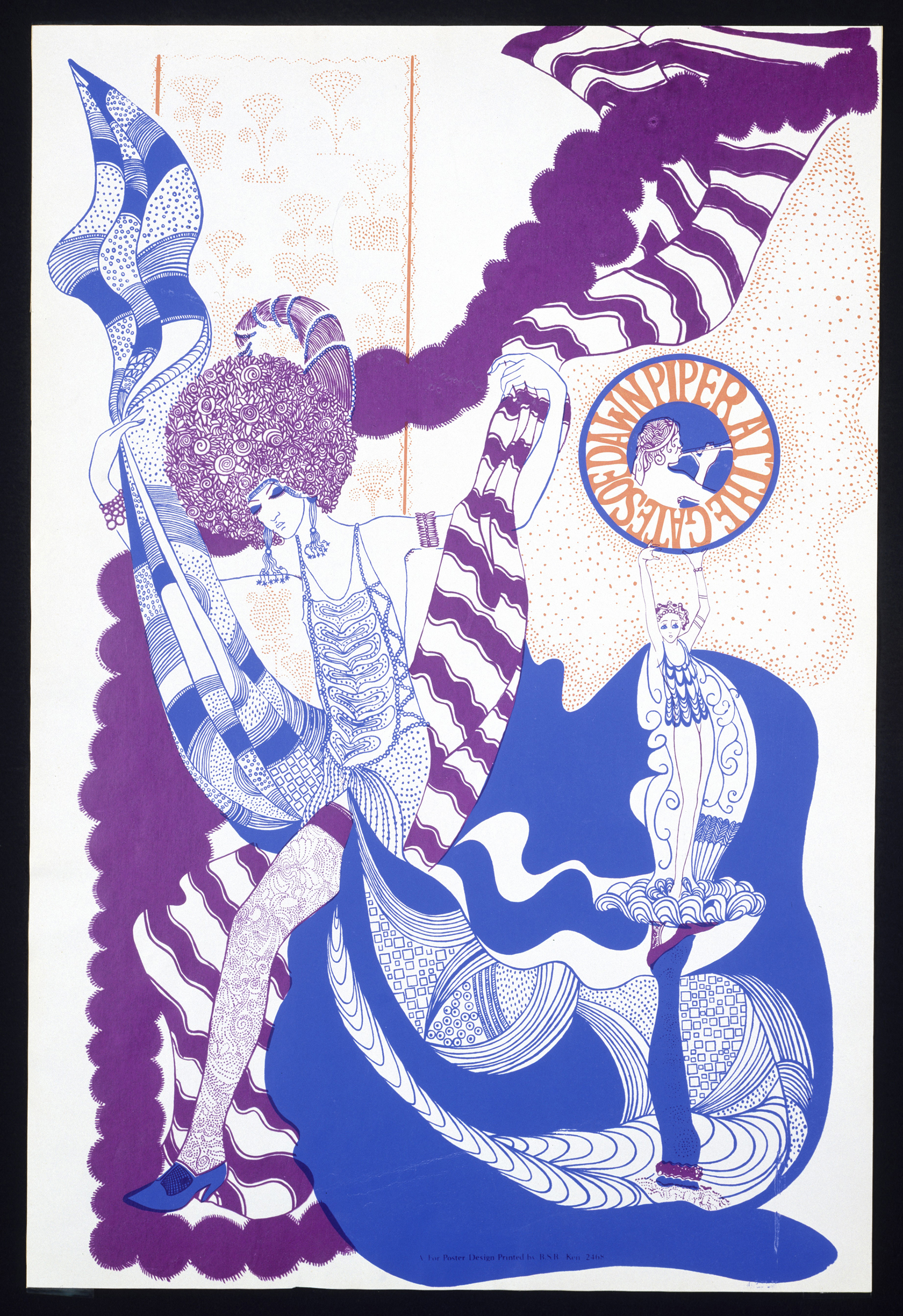 Poster promoting The Piper at the Gates of Dawn in 1967, artist unknown © Victoria and Albert Museum, London