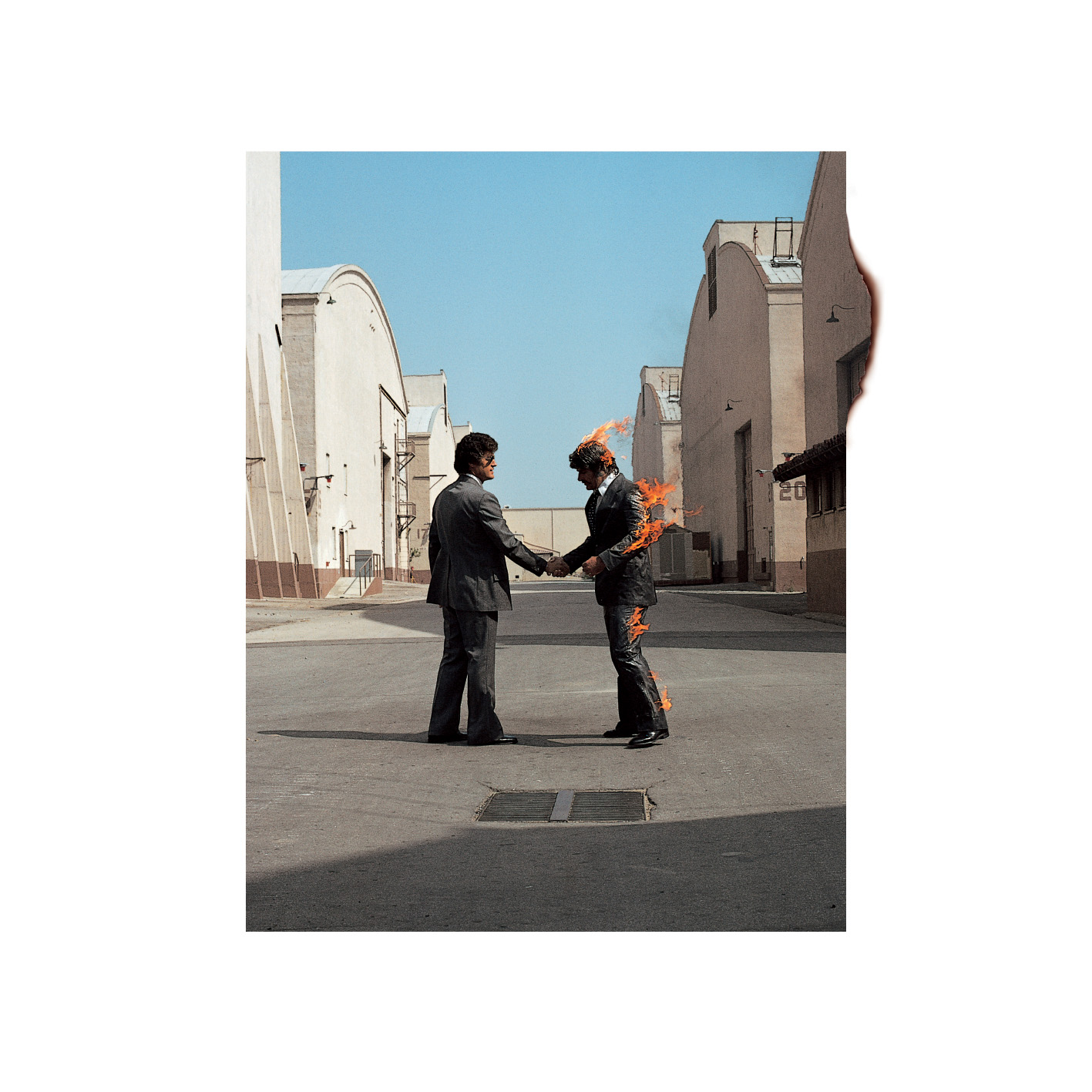 Cover art for Wish You Were Here by Hipgnosis.