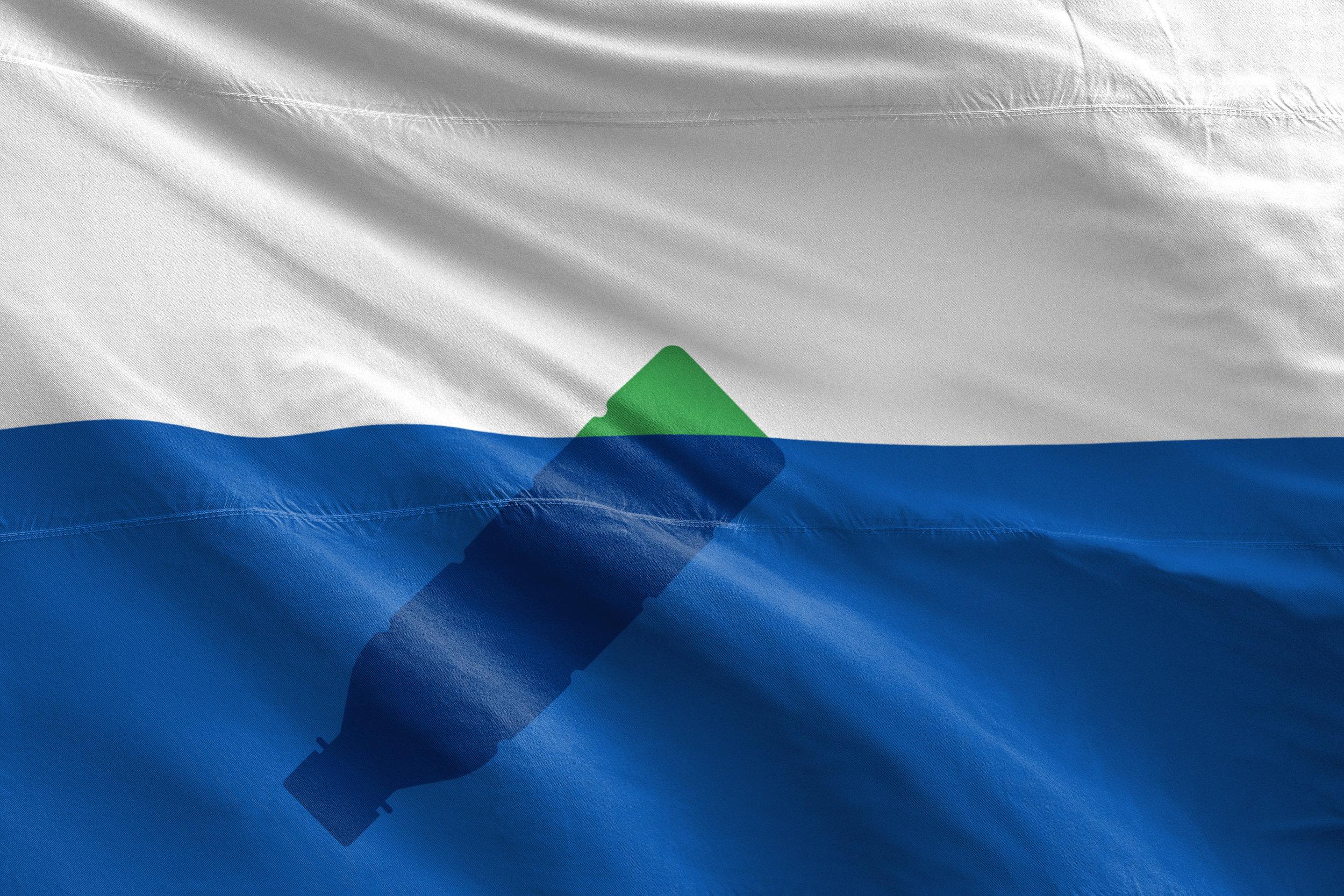 The Trash Isles flag, designed by Mario Kerkstra