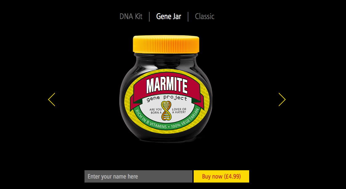 Marmite gene testing