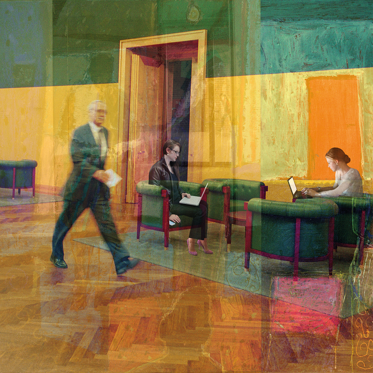 An image from Catherine Balet's book Moods in a Room