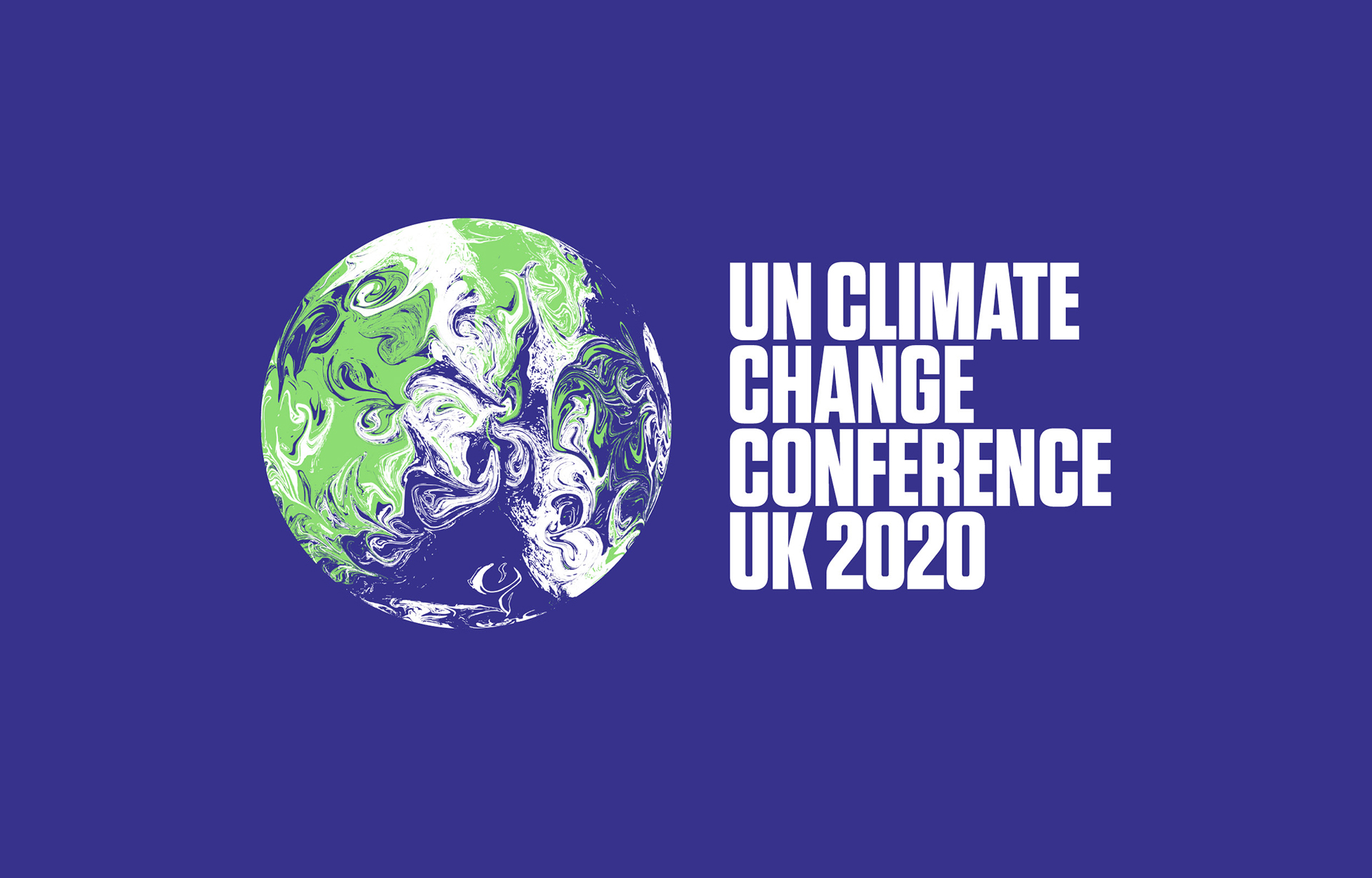 The main design for the COP26 identity by Johnson Banks