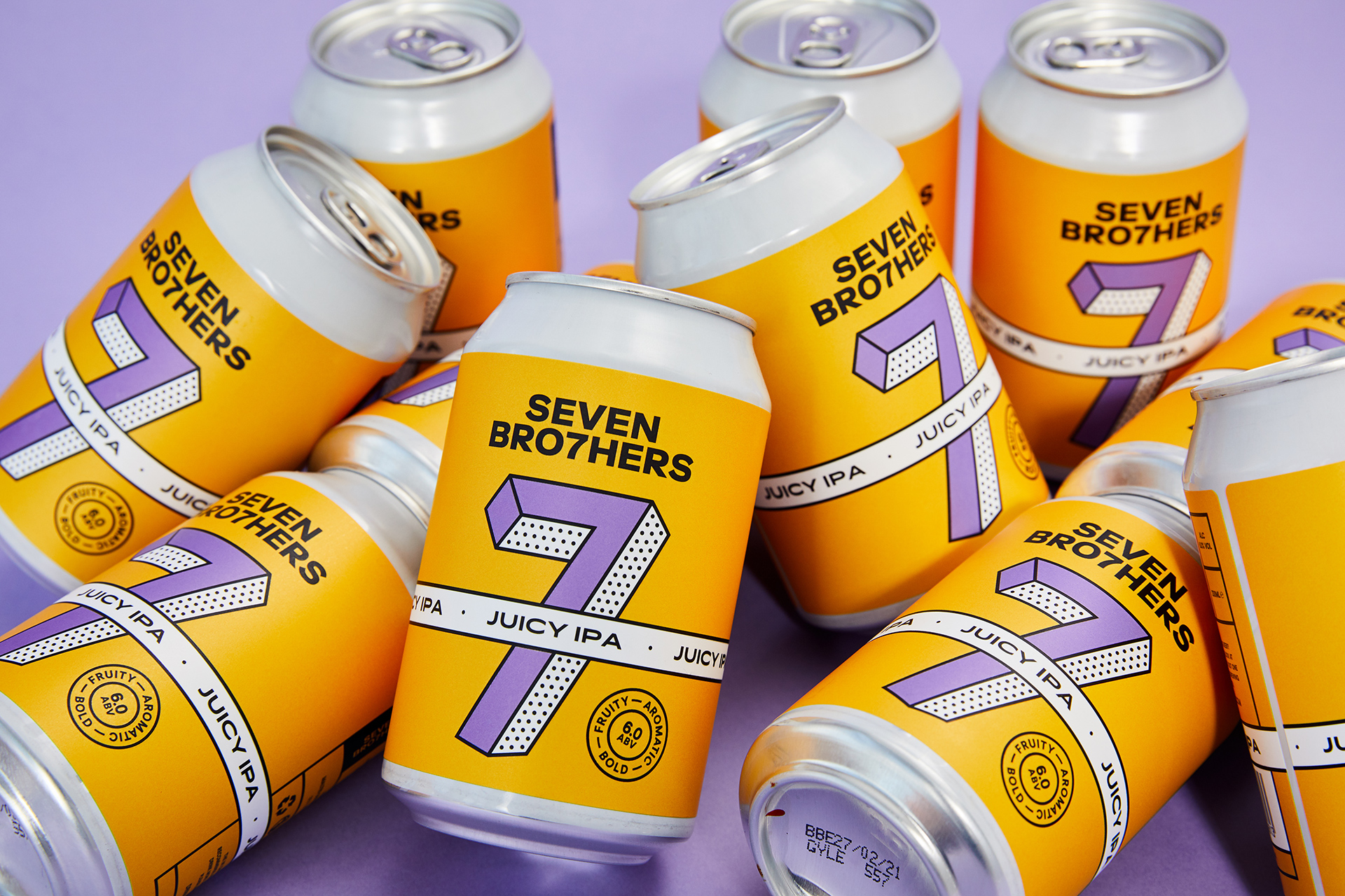 Seven Brothers brewery brand refresh