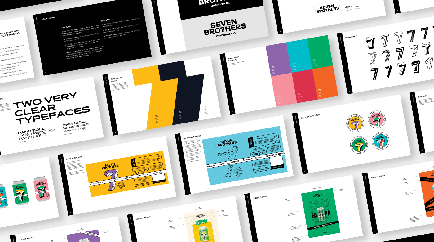 Brand guidelines for Seven Brothers brewing co.