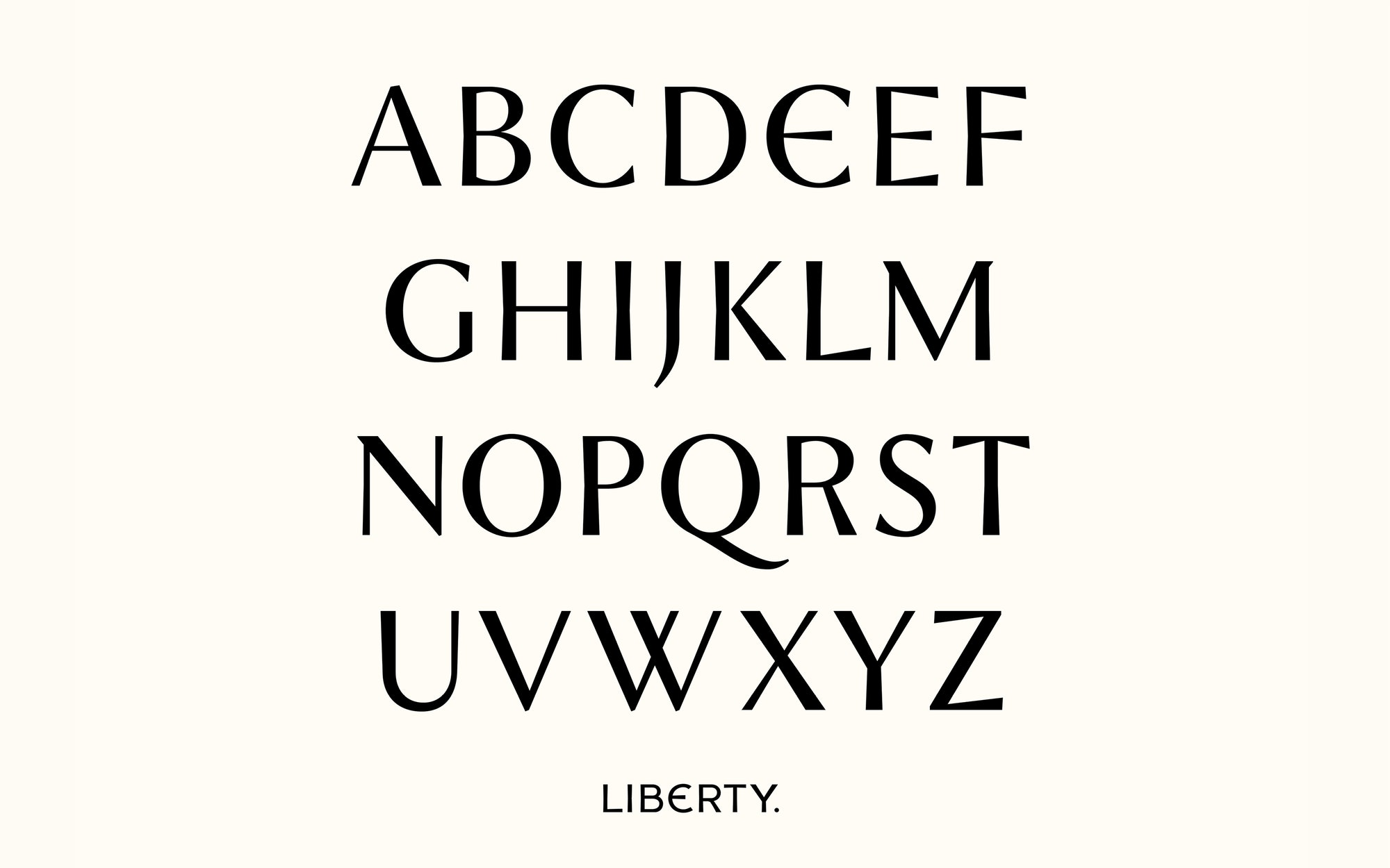 Liberty visual design by Pentagram