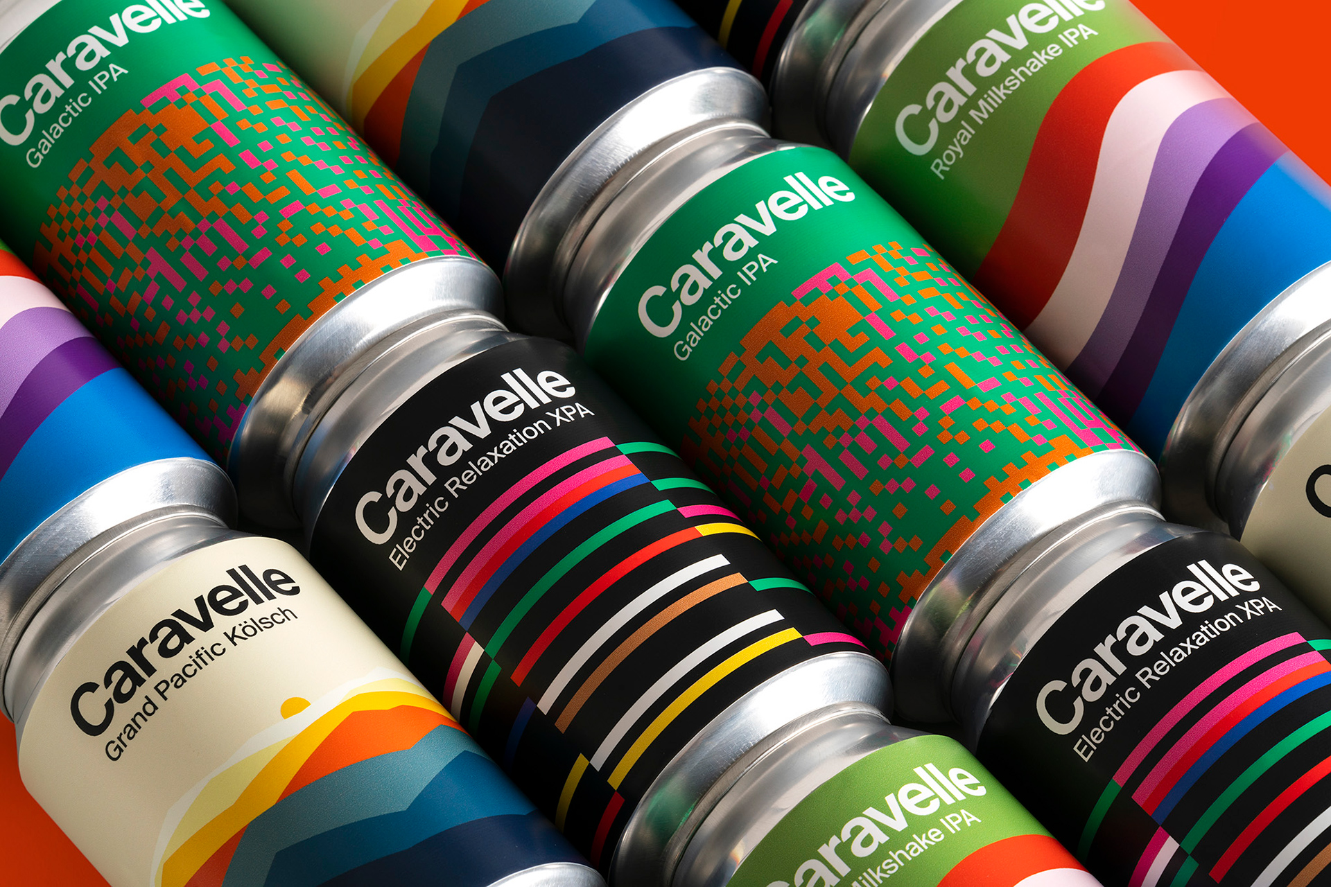 Branding for craft beer brand Caravelle
