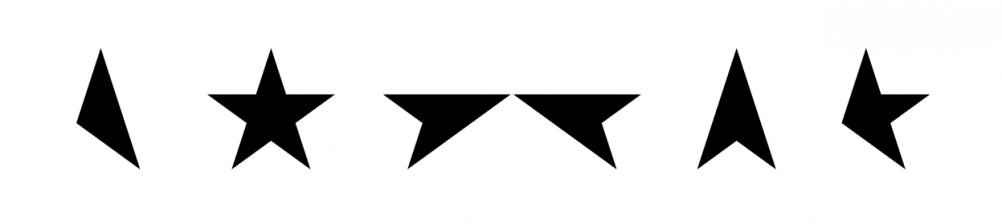"""Bowie"" logo for Blackstar"