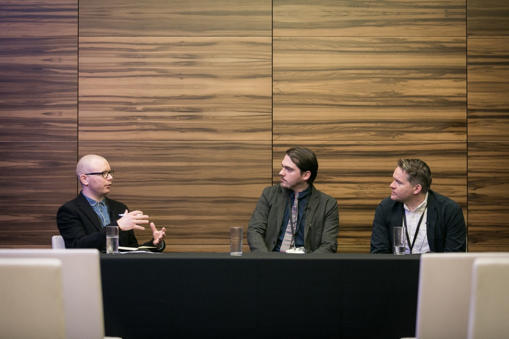 From left – Angus Montgomery from Design Week, Matt Longstaff from AKQA and Noel Lyons from Barclays