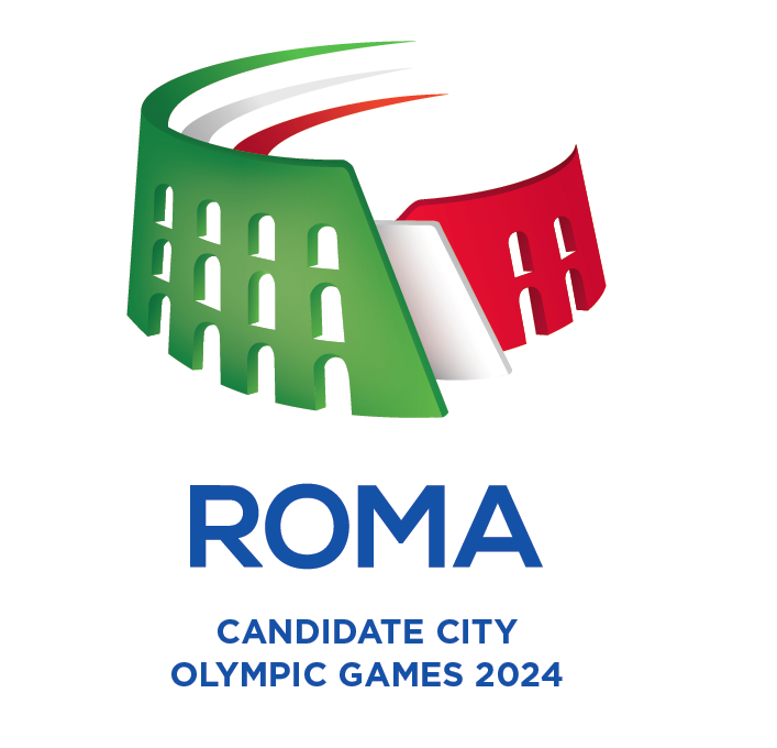 Rome's proposed logo for its Olympic 2024 bid