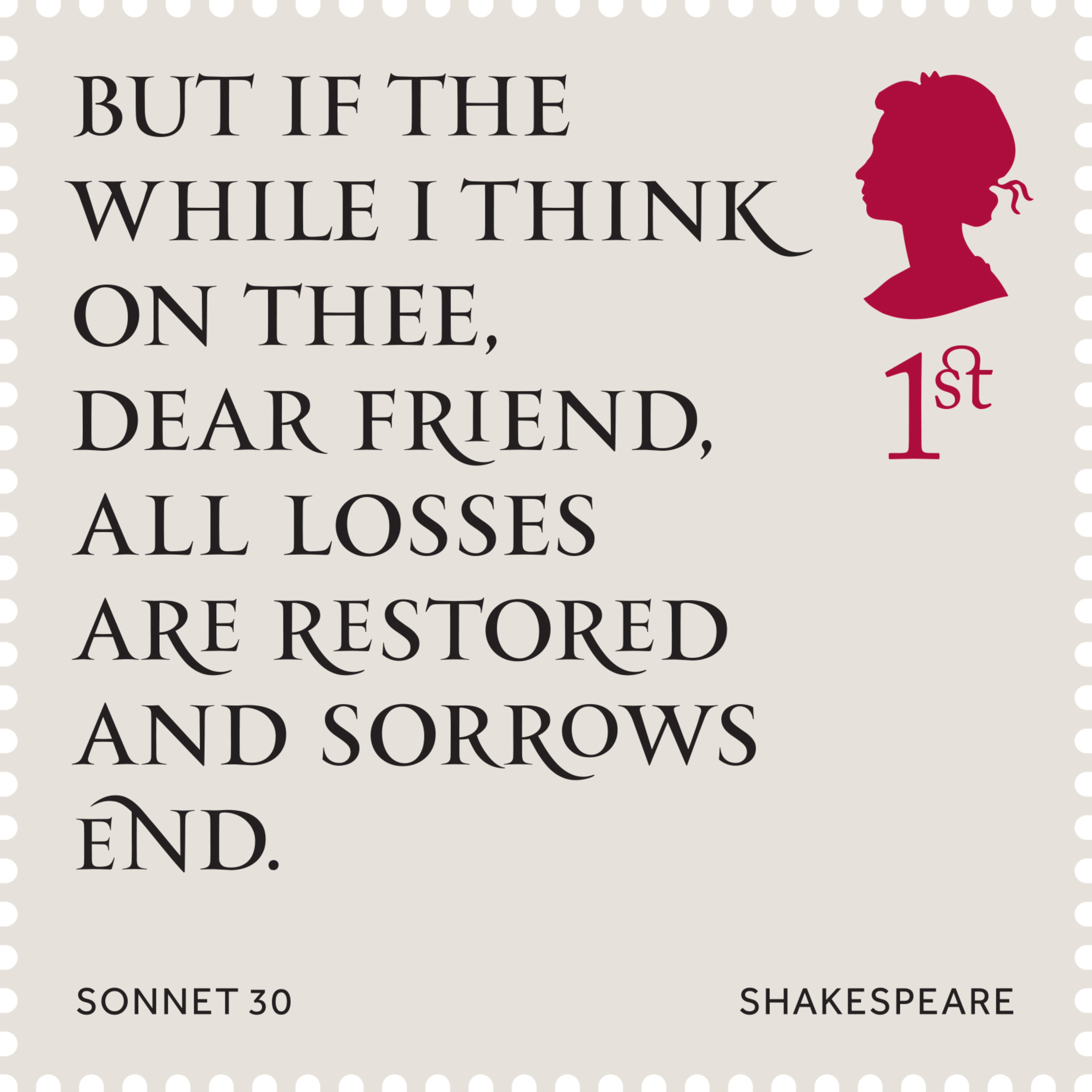 Sonnet 30 Shakespeare 400%