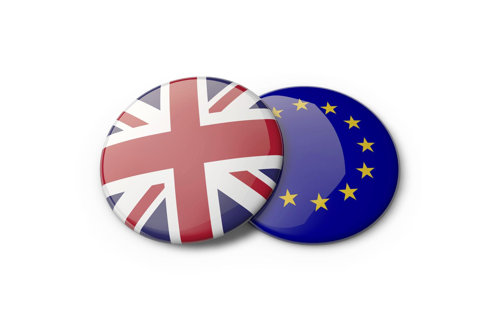 EU and UK badges