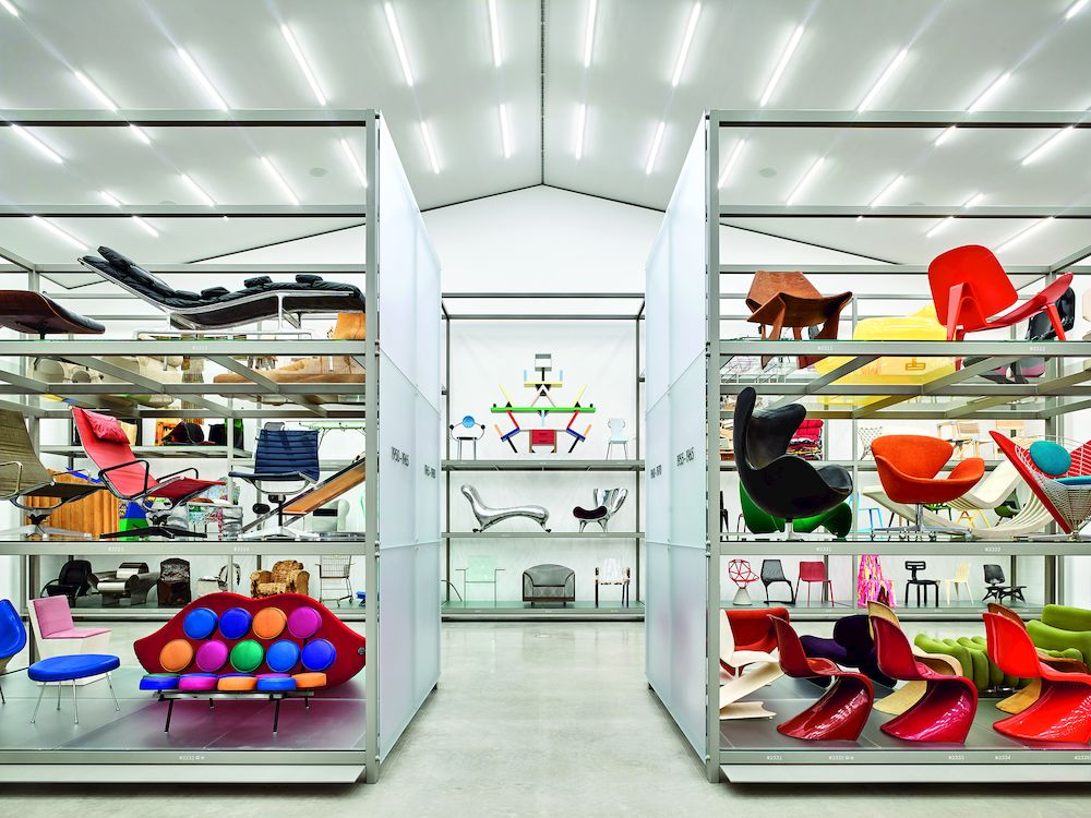 Ausstellungsansicht der Haupthalle Foto © Vitra Design Museum, Mark Niedermann Exhibition view of main hall photo © Vitra Design Museum, Mark Niedermann