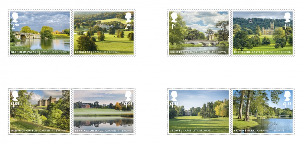 Capability Brown stamp full set