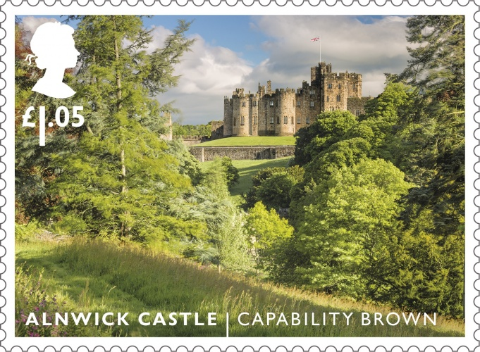 LG Alnwick Castle stamp 400%