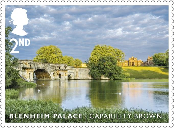 LG Blenheim Palace stamp 400%