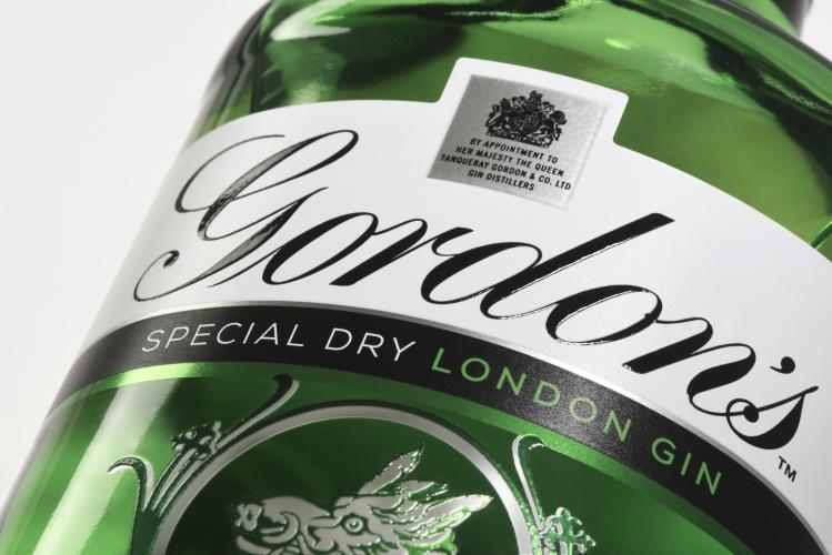 Gordons label detail