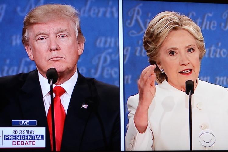 Screenshot of the Third Presidential Debate on 19 October 2016. Courtesy of Flickr user Bill B