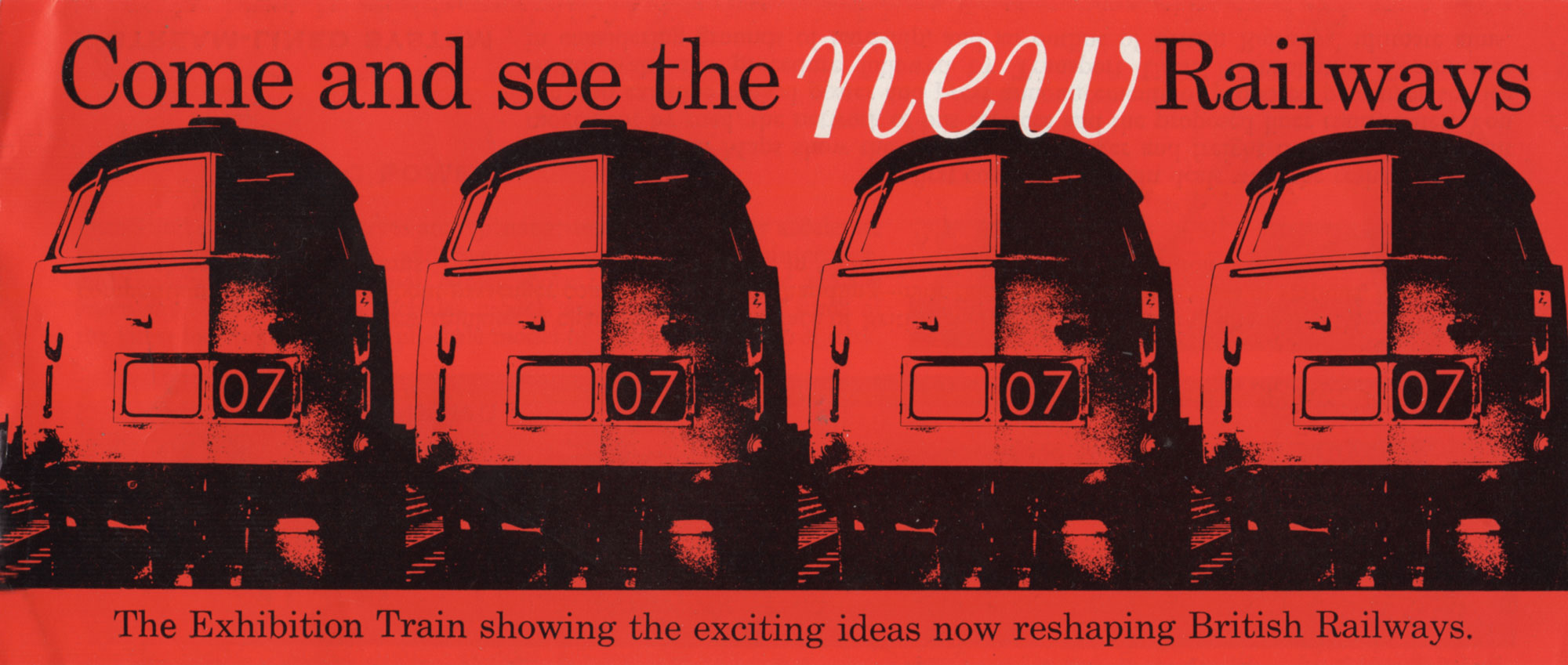 Promotional leaflet for the exhibition train taking British Rail design around Britain in 194