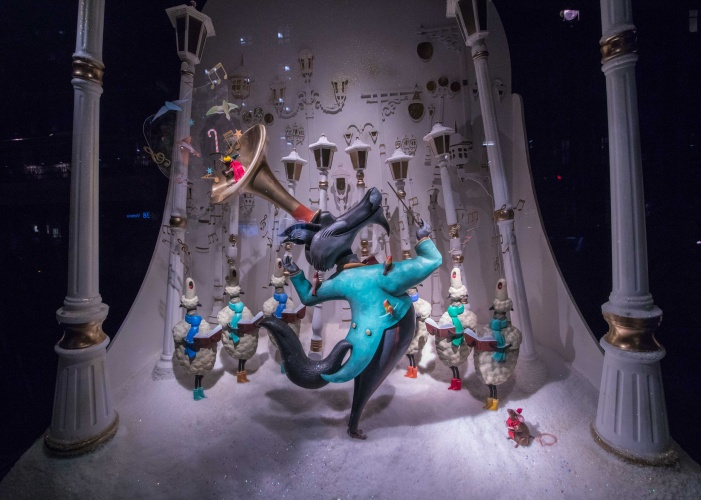 """Jeff Moore """"THIS PICTURE IS FREE FOR EDITORIAL USE """" Fortnum & Mason Unveil Christmas Windows."""