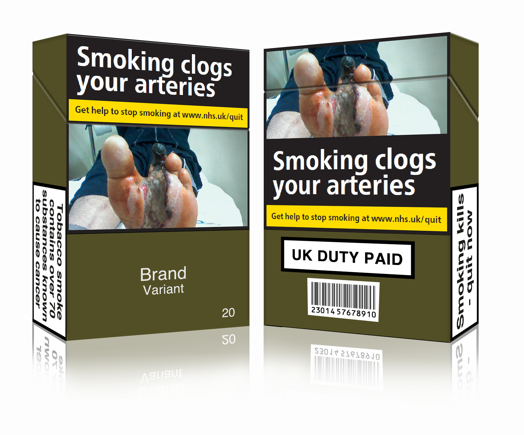 © Action on Smoking and Health. The image conforms to the requirements of the EU Tobacco Products Directive and UK law on standardised packaging.