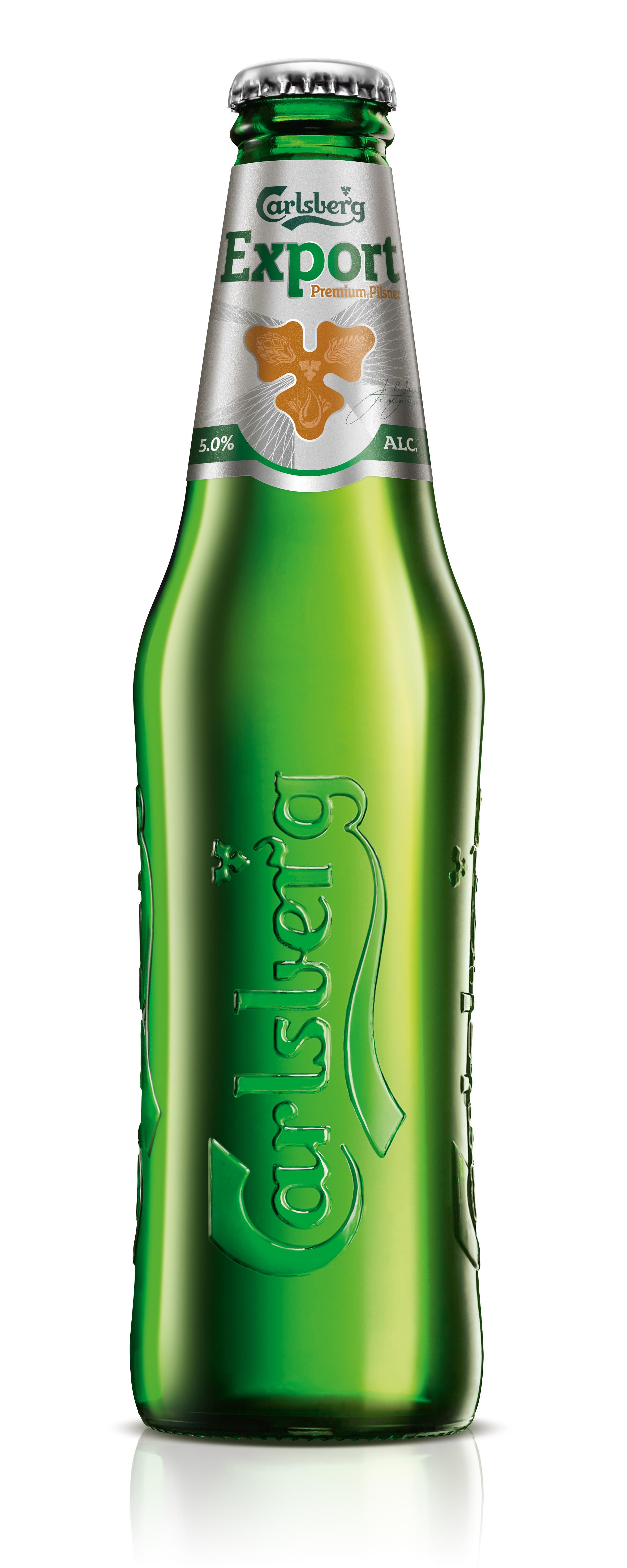 The current branding for Carlsberg Export