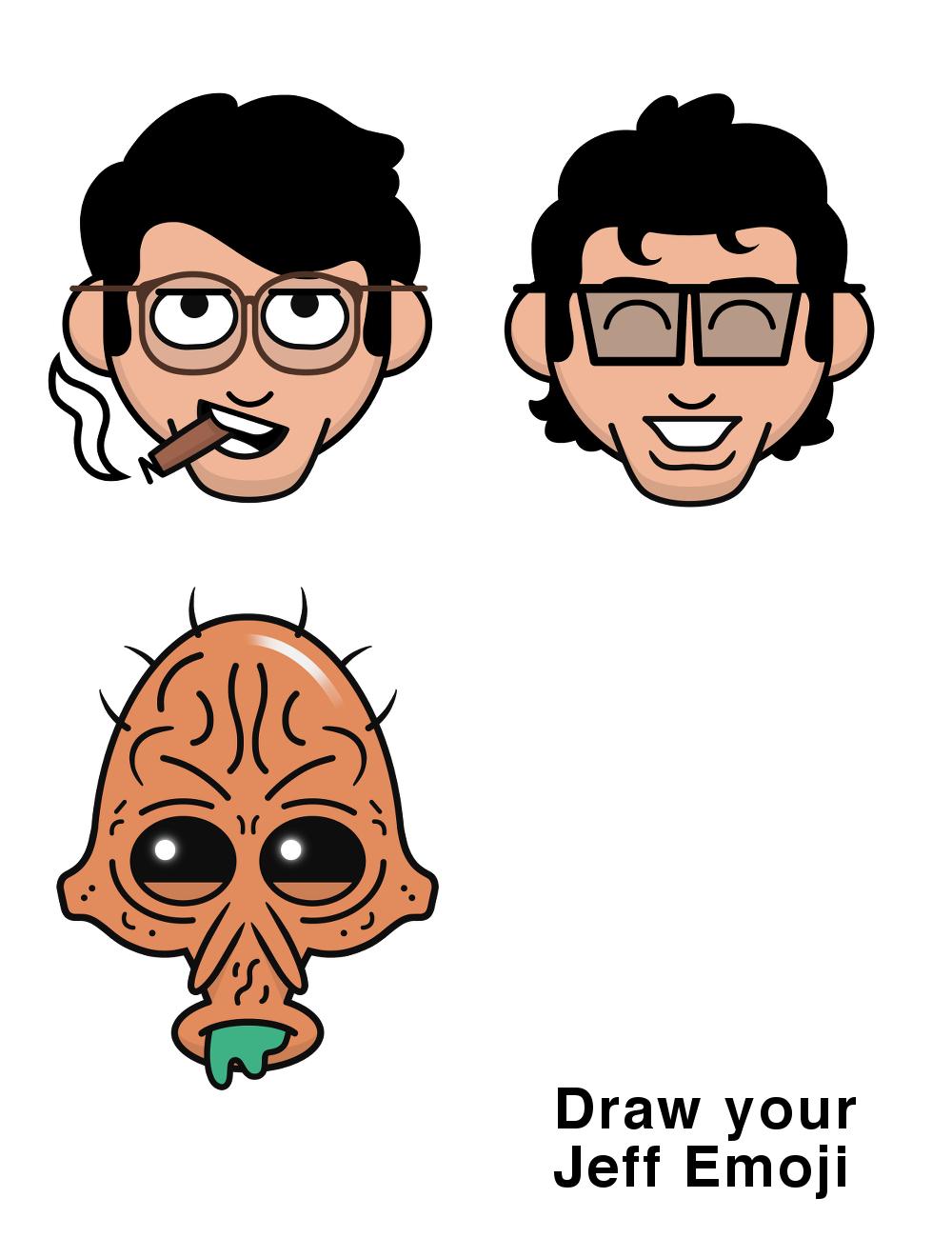 Jeff Emoji's by Dan Woodger