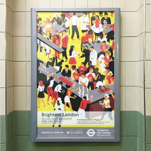 London Transport Museum poster, by Virginie Morgand