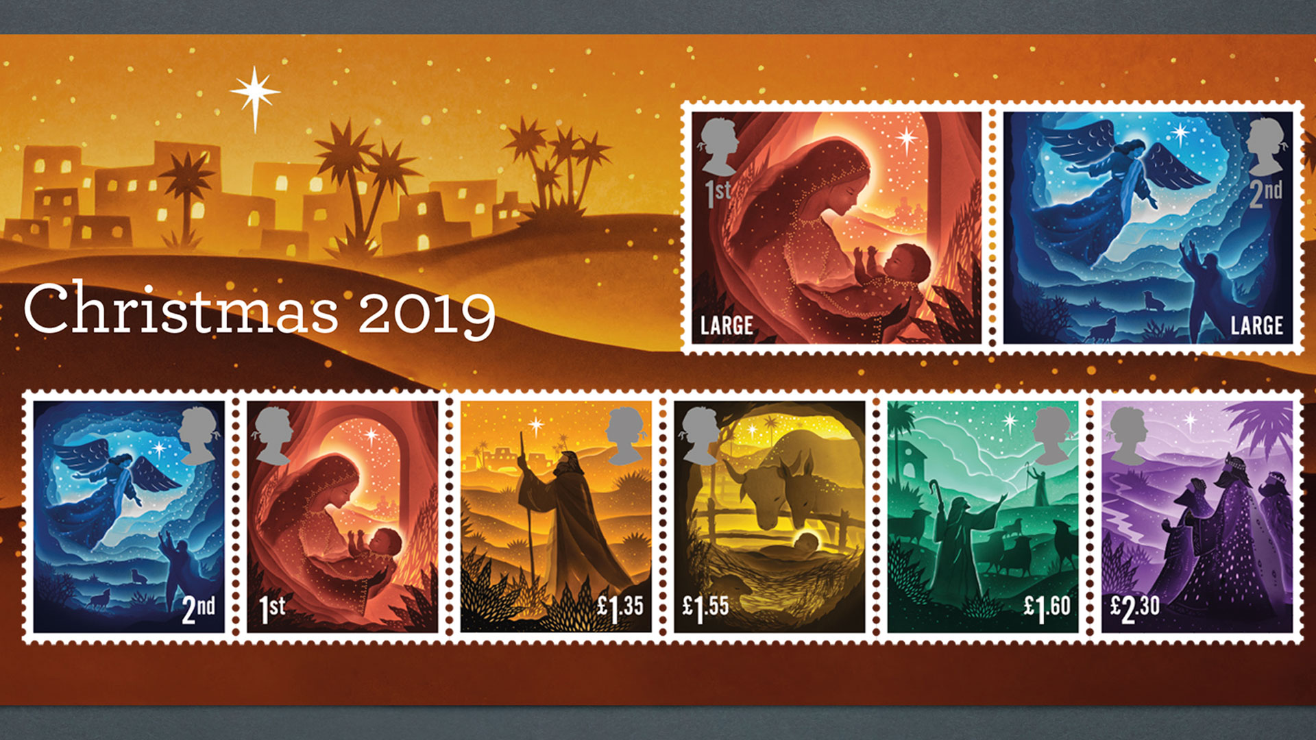 Religious Christmas Stamps 2021 Royal Mail Unveils 2019 Christmas Stamps Design Week