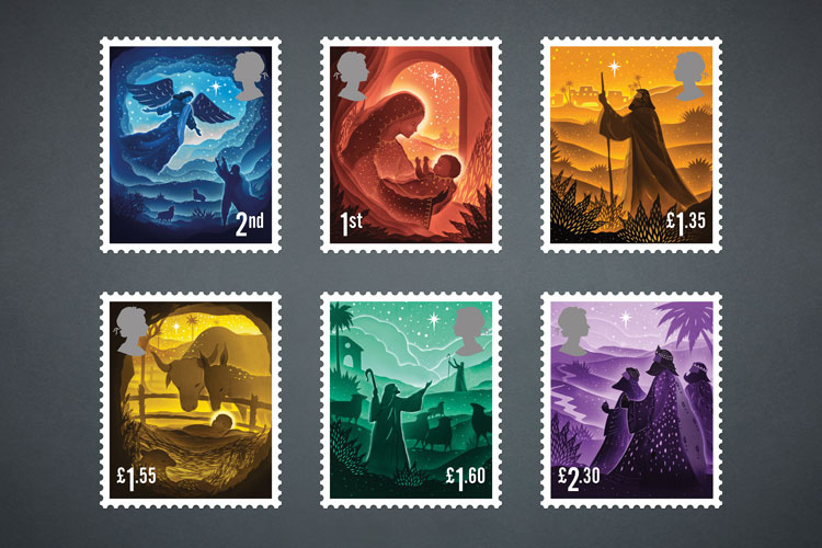 British Christmas Stamps 2020 Royal Mail unveils 2019 Christmas stamps | Design Week