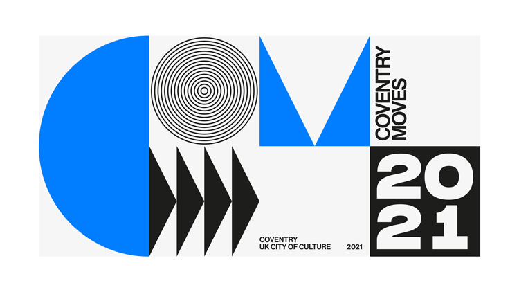 Coventry S City Of Culture 2021 Branding Is A Brutalist Blue Tribute To The City Design Week