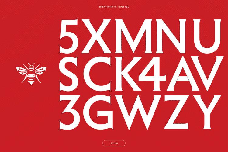 brentford fc font