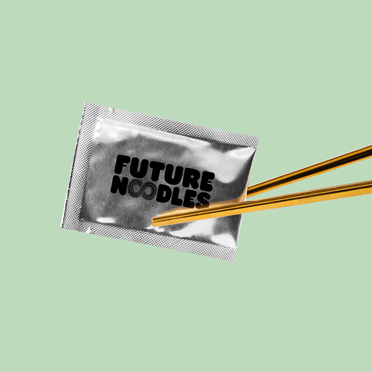 "Otherway's ""retro-futuristic"" identity for plant-based meal kit Future Noodles 