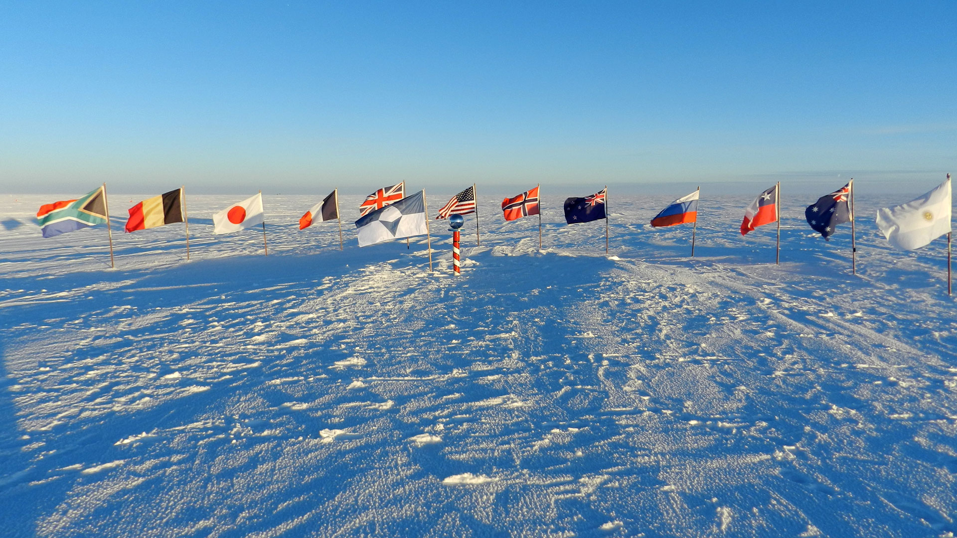 This flag has been designed to represent and protect Antarctica