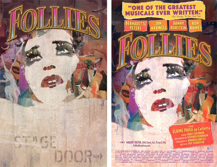 "Broadway poster designer Frank Verlizzo shares archive of ""rejected"" pieces 